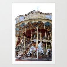 Paris Carousel Horses - Paris Merry Go Round Print - Paris Carousel Horses Home Decor Art Print