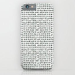 Dots (Shadowed) - Black x Sage iPhone Case