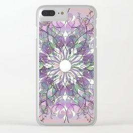 Tangled Thistle Mandala Clear iPhone Case