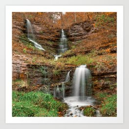 Missouri's Thunder Falls Triple Waterfall Art Print