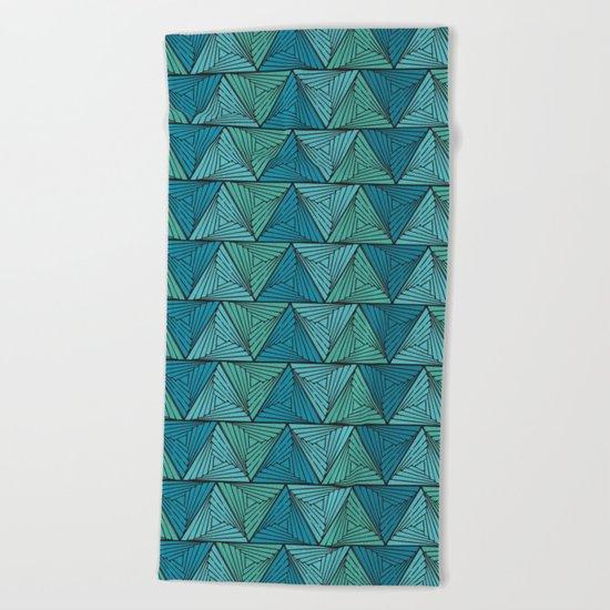 geometric II Beach Towel