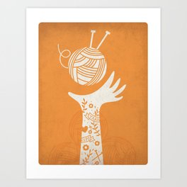 Yarn Love - Orange Art Print