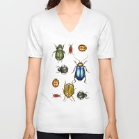 bugs V-neck T-shirts featuring Bugs by Megan Campbell Illustrator