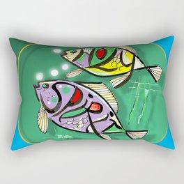 Spiritual Blue Rectangular Pillow