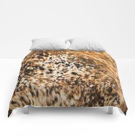 Rustic Country Western Texas Longhorn Cowhide Rodeo Animal Print Comforters