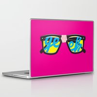 geek Laptop & iPad Skins featuring Geek by Aaron Synaptyx Fimister