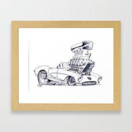 Blown Vette Framed Art Print