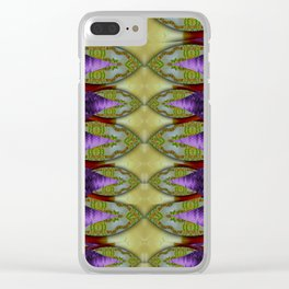 Divine flowers striving to reach universe Clear iPhone Case