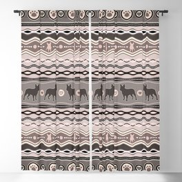French Bulldog - Decorative Pattern in pastels Blackout Curtain