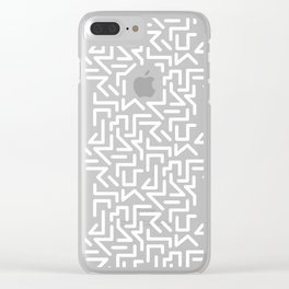 Memphis Labyrinth Clear iPhone Case