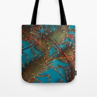 lobster Tote Bags featuring Lobster by comma black