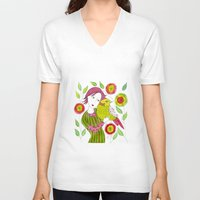 friendship V-neck T-shirts featuring Friendship by Jessie Lilac