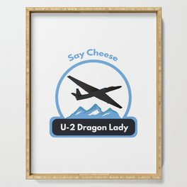 U-2 Dragon Lady Reconnaissance Aircraft Serving Tray