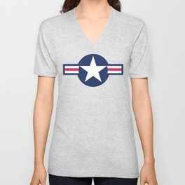US Air force Style insignia Pattern Unisex V-Neck