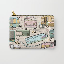 Vintage Glamping Camping Style Carry-All Pouch