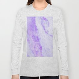 Shimmery Violet Purple Marble Metallic Long Sleeve T-shirt