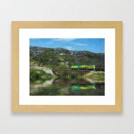 White Pass Train Framed Art Print