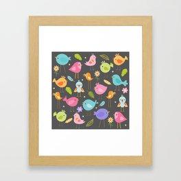 Birds - Gray Framed Art Print