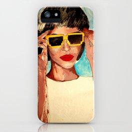 Pixel Sunglasses 02 iPhone Case