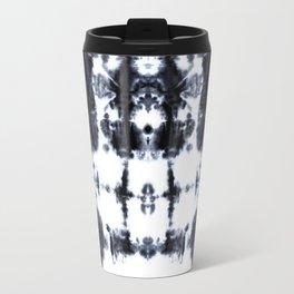Boho BW Stitch Shibori Travel Mug