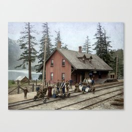 CPR Station, Hope, BC c.1895 Canvas Print