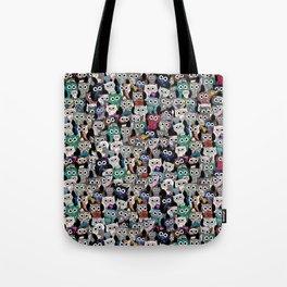Gemstone Owls Tote Bag
