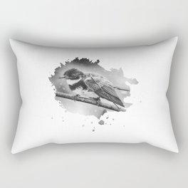 Chickadee In Winter Rectangular Pillow