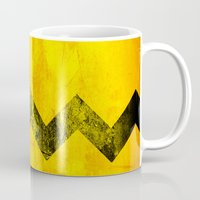 charlie brown Mugs featuring Distressed Charlie Brown by Leah M. Gunther Photography & Design