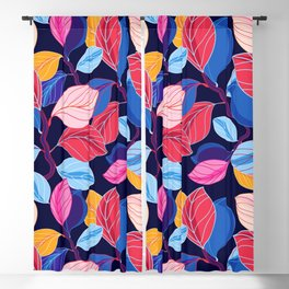 Colorful Leaves Blackout Curtain