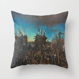 Henry Arthur McArdle's Dawn at the Alamo Throw Pillow
