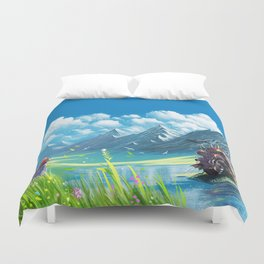 Howls Moving Castle Duvet Cover
