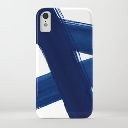 Indigo Abstract Brush Strokes | No. 4 iPhone Case