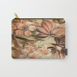 Peachy Floral Abstract Carry-All Pouch