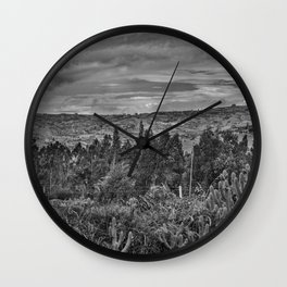 Ecuador Landscape Scene at Andes Range Wall Clock