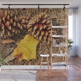 The Pine Cone Season Wall Mural