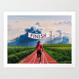 Finish Line Art Print