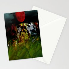 Tiger In the Night Under the Blood Moon Stationery Cards