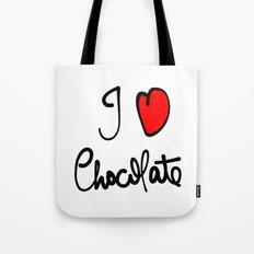 i love chocolate Tote Bag