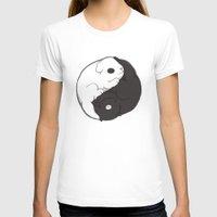 yin yang T-shirts featuring Yin & Yang by Lili Batista