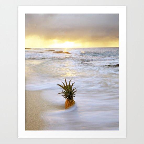 Pineapple Seabreeze Art Print