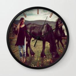 Friesian Morning Wall Clock