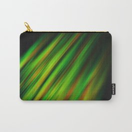 Colorful neon green brush strokes on dark gray Carry-All Pouch