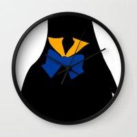 sailor venus Wall Clocks featuring Sailor Venus by hunnydoll