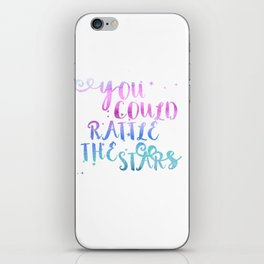 let's go rattle the stars iPhone Skin