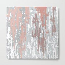 Pink rose abstract. .minimalist. line. minimalism. lines. Metal Print