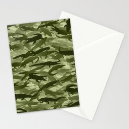 Crocodile camouflage Stationery Cards