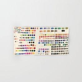Artist Color Swatches - watercolor, prisma, paints Hand & Bath Towel