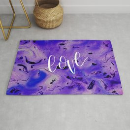 Love Quote Valentine's day abstract gift Rug