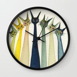 Wollongong Whimsical Cats Wall Clock
