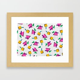 90's Geometric Print Framed Art Print